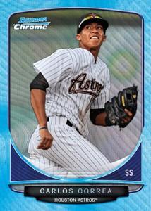 2013-Bowman-Baseball-Blue-Wave-Refractor-Carlos-Correa-214x300