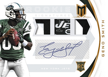 2013-Panini-Momentum-Football-Geno-Smith-Autographed-Memorabilia-RC