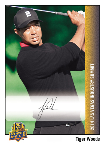 2014-Upper-Deck-Las-Vegas-Industry-Summit-25th-Anniversary-Autograph-Tiger-Woods